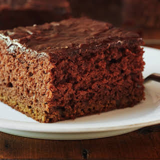 Chocolate Pudding Cake with Coke Frosting.
