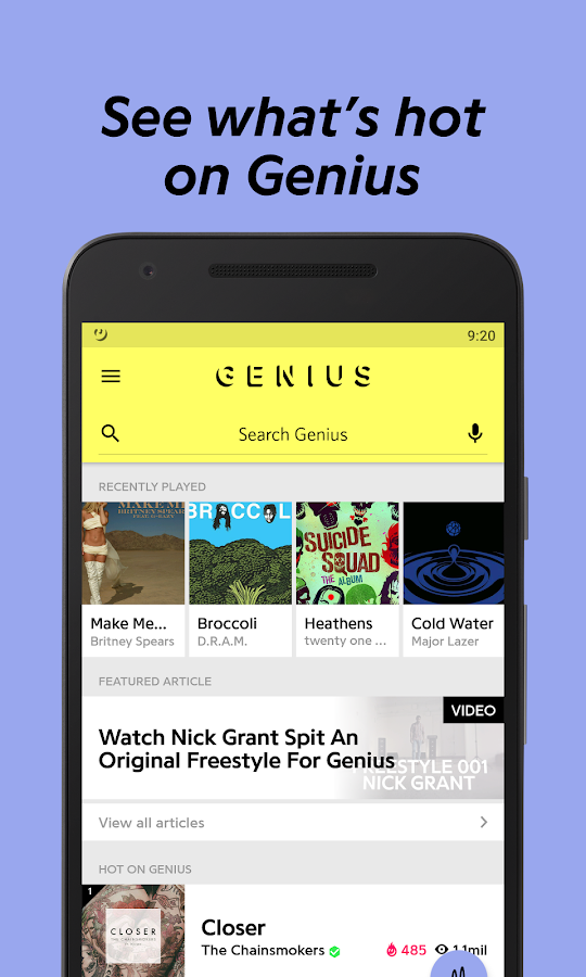 Lyric rap song finder by lyrics : Genius — Song Lyrics & More - Android Apps on Google Play