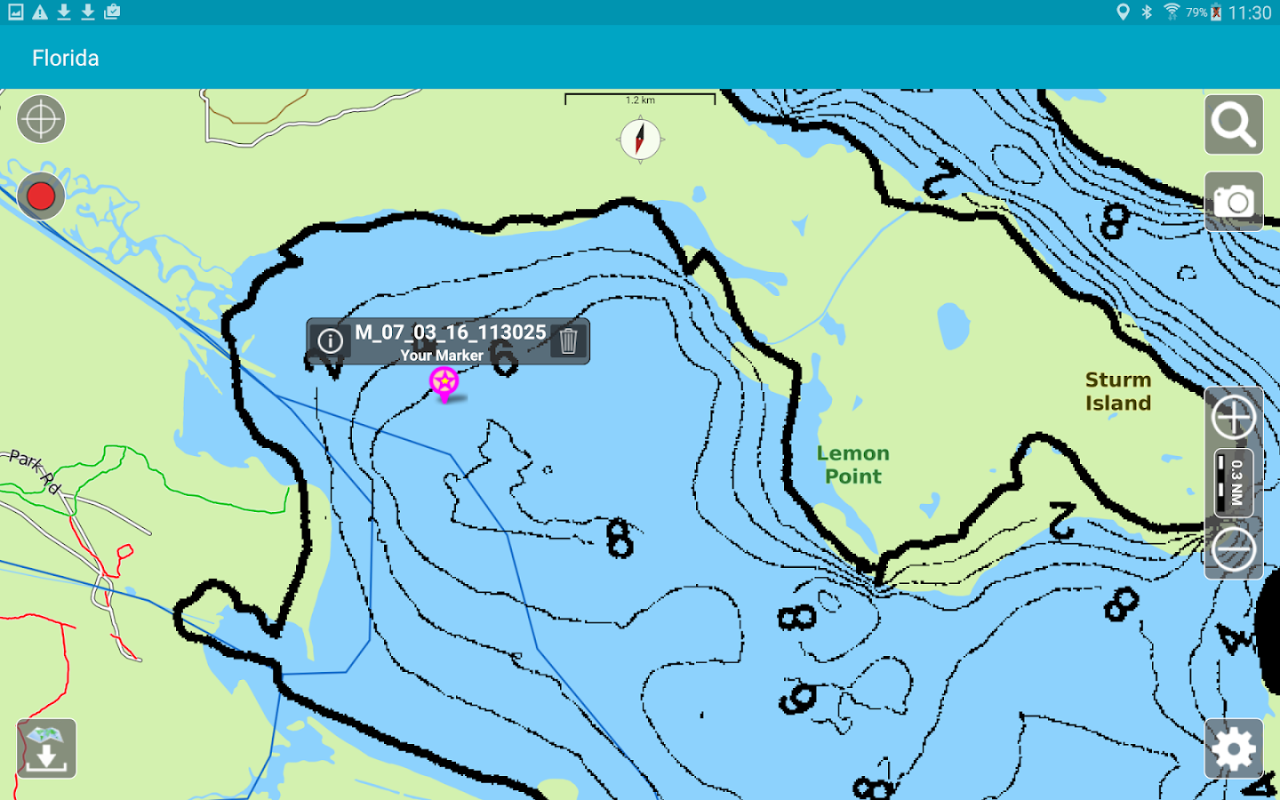 Aqua Map Florida Lakes GPS- screenshot