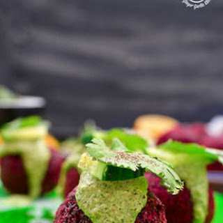 Roasted Beet Falafel With Green Tahini Dip | Video