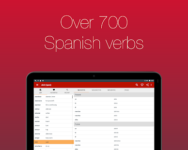 Spanish Verb Conjugator Pro Screenshot