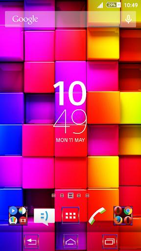 Tiles Colored Xperien Theme