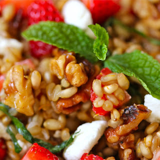 Strawberry and Goat Cheese Wheat Berry Salad