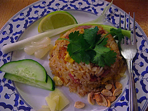 Photo: plated sour sausage fried rice