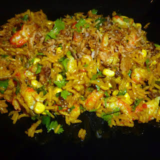 Curried Crayfish Rice Salad.