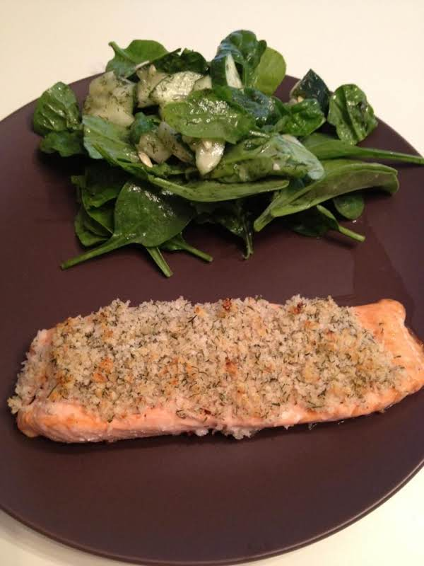 Salmon Fillets Encrusted W/horseradish
