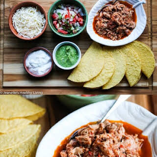 Slow Cooker Chicken Tinga Tacos.