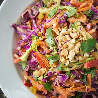 Healthy Asian Peanut Slaw