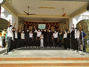 Photo: Spirit of freedom - a mime show by students of class 9