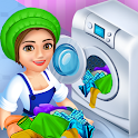 Laundry Service Dirty Clothes Washing Game icon
