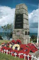 typical town war memorial on ANZAC Day