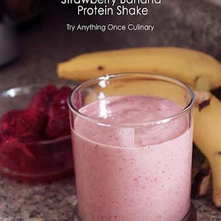 Strawberry Banana Protein Shake.
