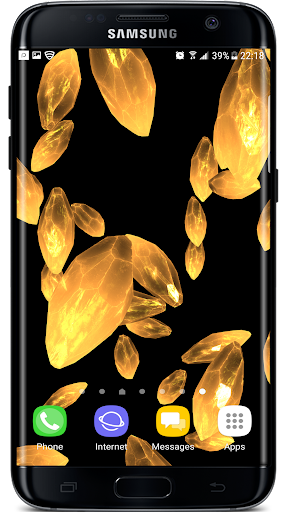 Crystals Particles 3D Live Wallpaper screenshots 3
