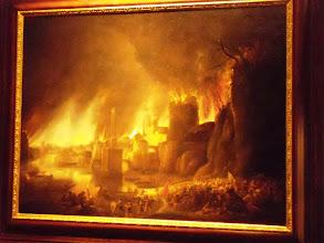 Photo: Troy - Fire over Troy by Simon de Vlieger, 17th century .......... Brand van Troje door Simon de Vlieger, 17de eeuw