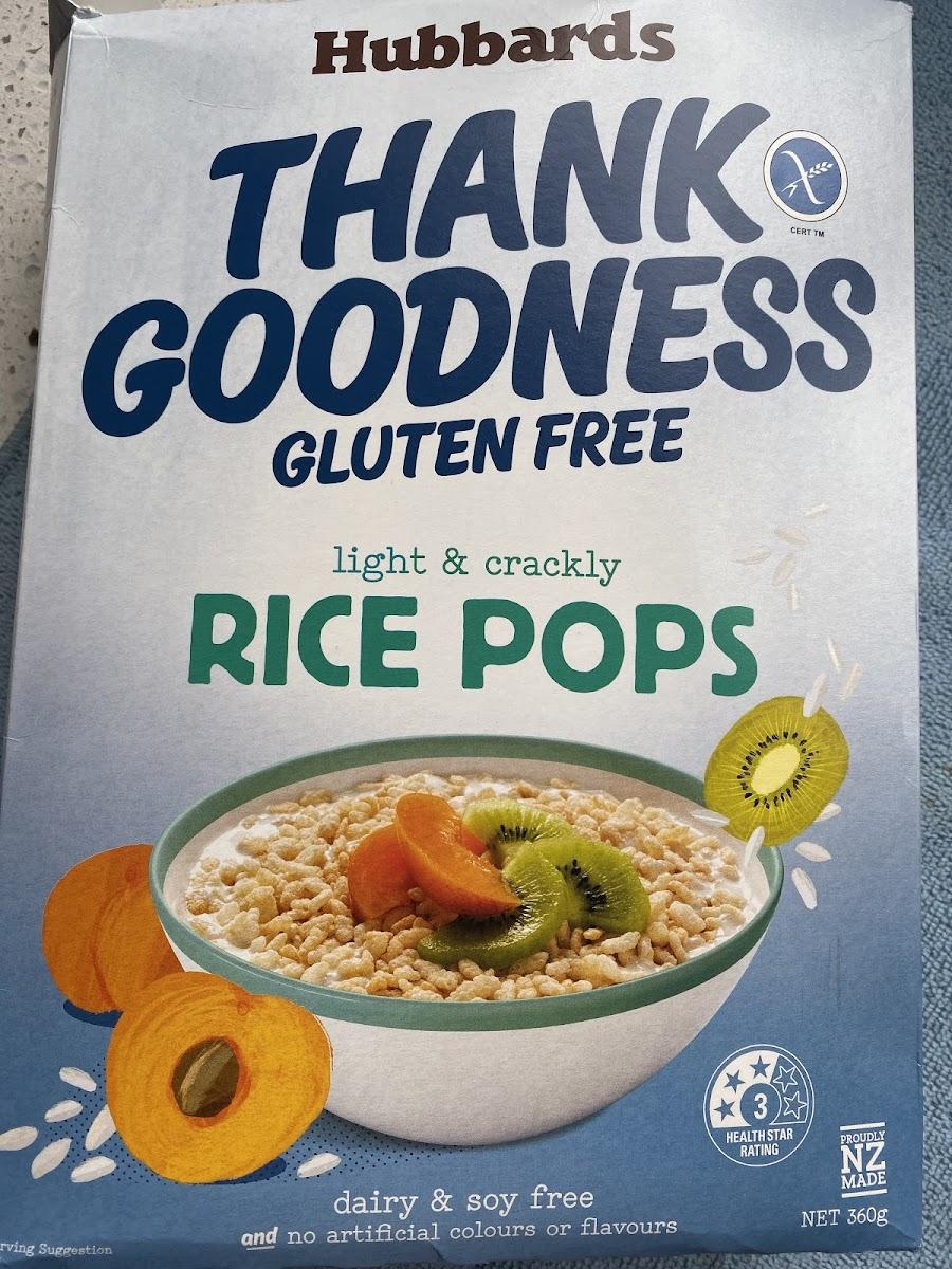 Thank Goodness Rice Pops