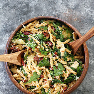 Pasta Salad with Sun-Dried Tomatoes, Artichokes, and Olives Recipe