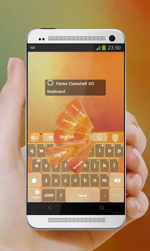 無料个人化Appの炎クラムシェル GO Keyboard 記事Game