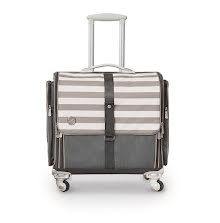 We R Memory Keepers 360 Crafters Rolling Bag - Gray