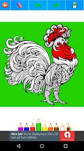 Chickens Coloring Book for Adults 2017 Free - náhled