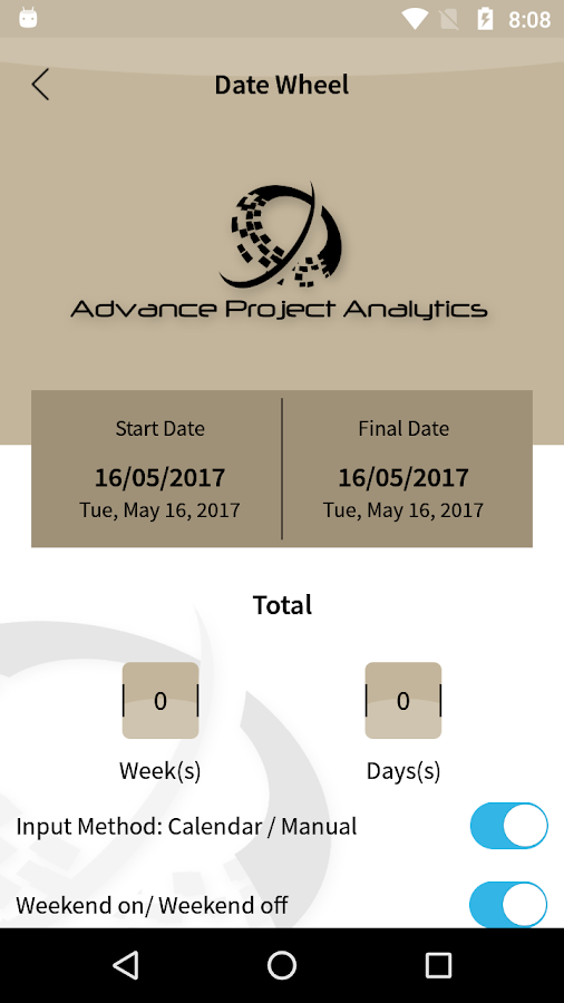Project Analytics App- screenshot
