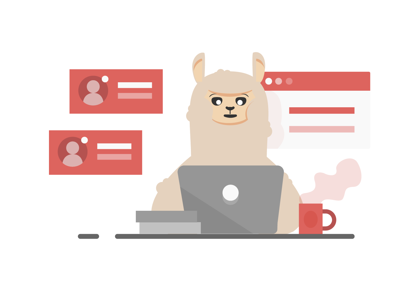 Dino the alpaca helps online businesses hire remote talent