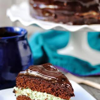 Mint Brownie Cake
