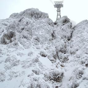 snowy way to Zugspitze by Roland Viado - Landscapes Mountains & Hills ( mountain, winter, snow, zugspitze,  )