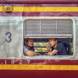 3rd Class by Ossa Pratama - Transportation Trains ( canon, frame, thailand, train, human interest )