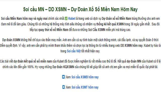 soi cầu XSMN, soi cầu MN - kubet.win