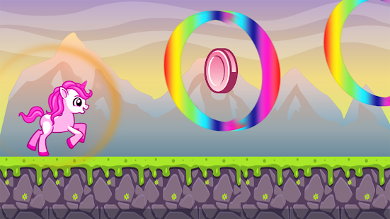 Tải My  Pinkie Unicorn Dash Rainbow pony magic jump APK