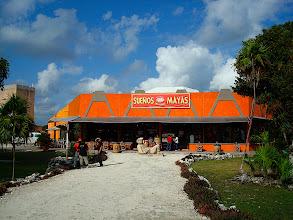Photo: An underly sensitive maya curio shop at Tulum