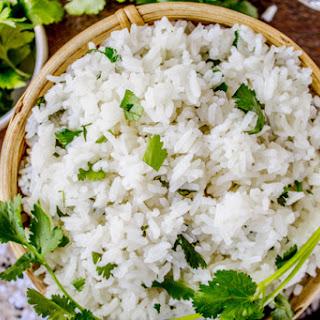 Coconut Jasmine Rice with Cilantro.
