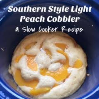 Southern-Style Light Peach Cobbler - a Slow Cooker.