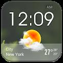 Transparent Glass Clock Widget icon