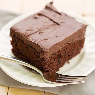 Chocolate Cake with Whipped Mocha Ganache Frosting.