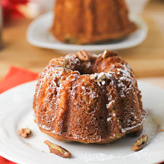 Applesauce Bundt Cake with Pecan Swirl