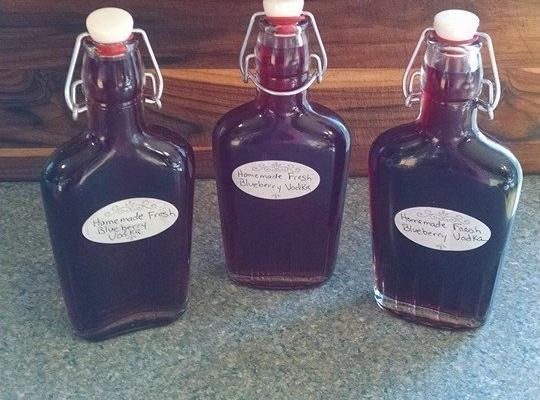 Homemade Fresh Blueberry Vodka Recipe