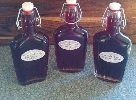 Homemade Fresh Blueberry Vodka
