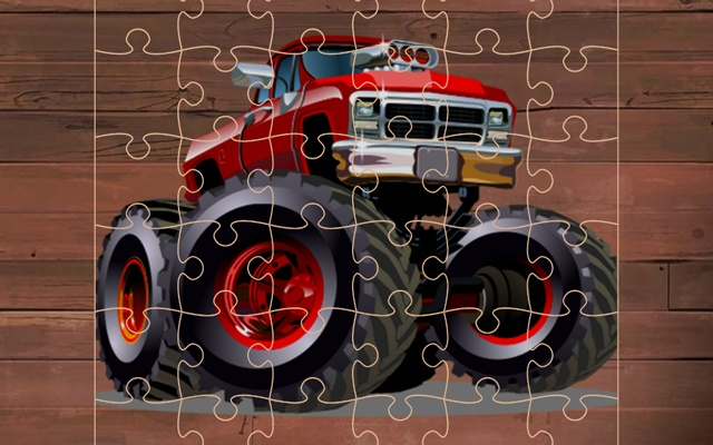 Crazy Monster Trucks Puzzle Game
