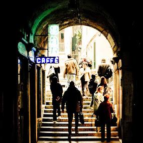 Venezia Gangway by Agus Pranayoga - City,  Street & Park  Street Scenes ( venezia )