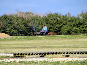 Photo: Watching the steam gauge and water glass, no idea that half the train is gone.    HALS Chili Fest Meet 2014-0228 RPW
