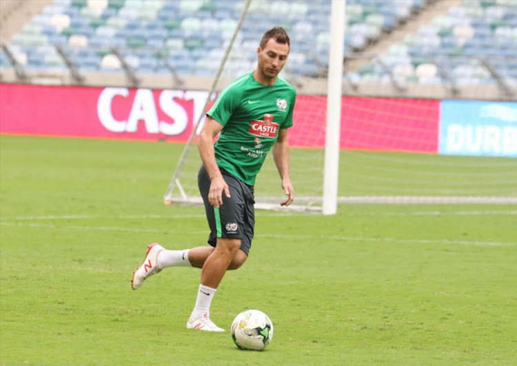 Bafana Bafana and SuperSport United striker Bradley Grobler during the South African national men's soccer team training session at Moses Mabhida Stadium in Durban on September 07, 2018.