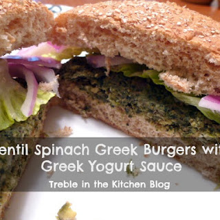 Lentil Spinach Greek Burgers