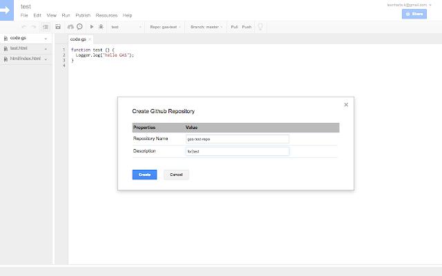 Google Apps Script GitHub Assistant
