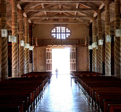 Photo: The front entrance to San Xavier cathedral . During the festival, each mission town hosted 2-3 concerts per day.