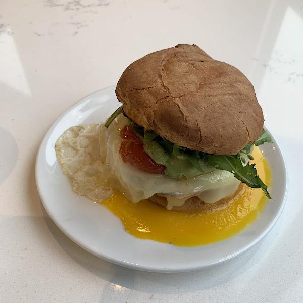 Breakfast sandwhich. So yummy!