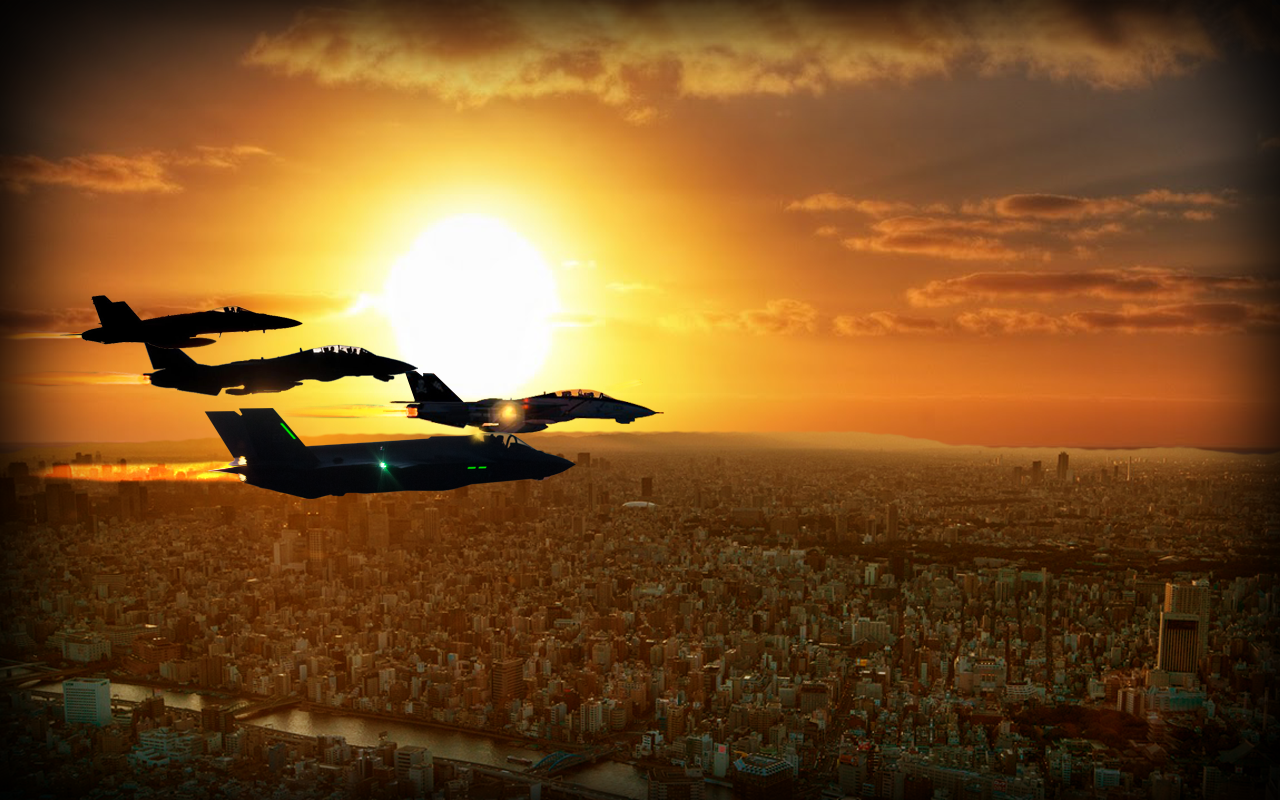 Fighter Jet Air Strike Mission 3D- screenshot