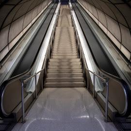 Metro in Bilbao by Nick Vanderperre - City,  Street & Park  Street Scenes ( 2018, bilbao )