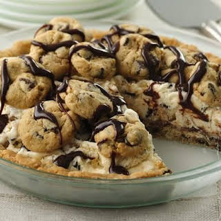 Chocolate Chip Cookie Ice Cream Pie.