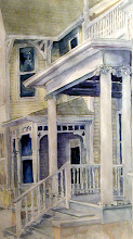 Photo: Porches of Ft Sanders Late Afternoon. watercolor. 24x36